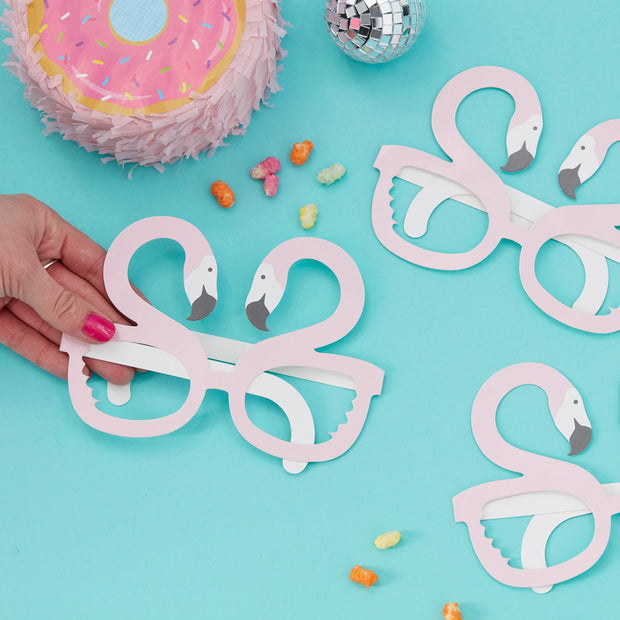 Flamingo Shaped Fun Glasses  - Birthday Photo Booth Props - Flamingo Party - Summer Party