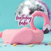 Hot Pink Glitter Birthday Babe Candle  - Birthday Candles - Flamingo Party - Summer Party