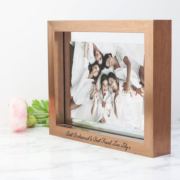 Personalised Copper Bridesmaids Photo Frame - Bridesmaid Photo Frame - Bridesmaid Gift - Engraved Bridesmaid Gift