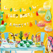 Multi Coloured Foil Curtain Backdrop - Viva La Fiesta, Summer Party, Colourful Summer Party Balloons