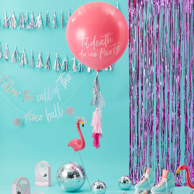 Pink Girl Gang Balloons  - Hot Pink Balloons - Birthday Babe - Girl Gang