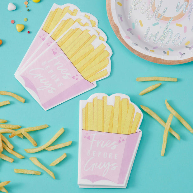 Fries Before Guys Paper Napkins - Fries Before Guys - Party Napkins - Birthday Party Napkins