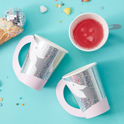 Flamingo Shaped Paper Cups   - Birthday Party Cups - Flamingo Party - Summer Party