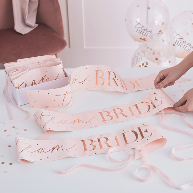Personalised Bride To Be Sash Rose Gold Hen Party