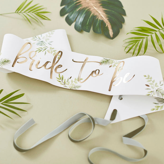 Gold Foiled Photobooth Hen Party Props - Botanical Hen