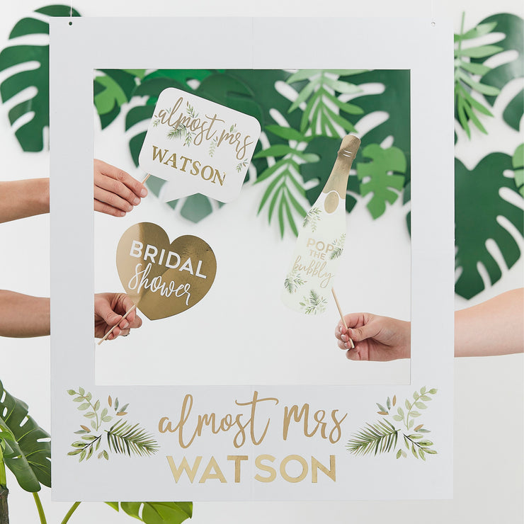 Green Velvet Almost Mrs Hen Party Book - Classy Hen Party Guest Book