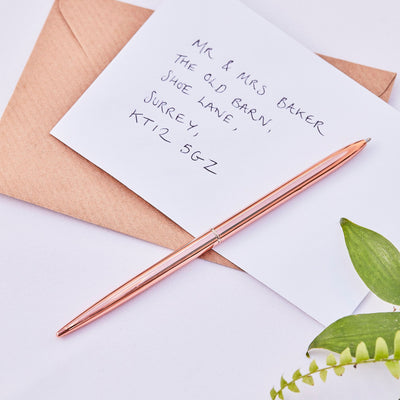 Rose Gold Fine Line Pen - Pen for Wedding Guest Book