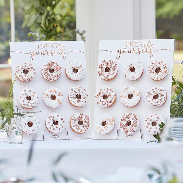 Rose Gold Treat Yourself Double Donut Wall Holders - Donut Holder - Donut Wall