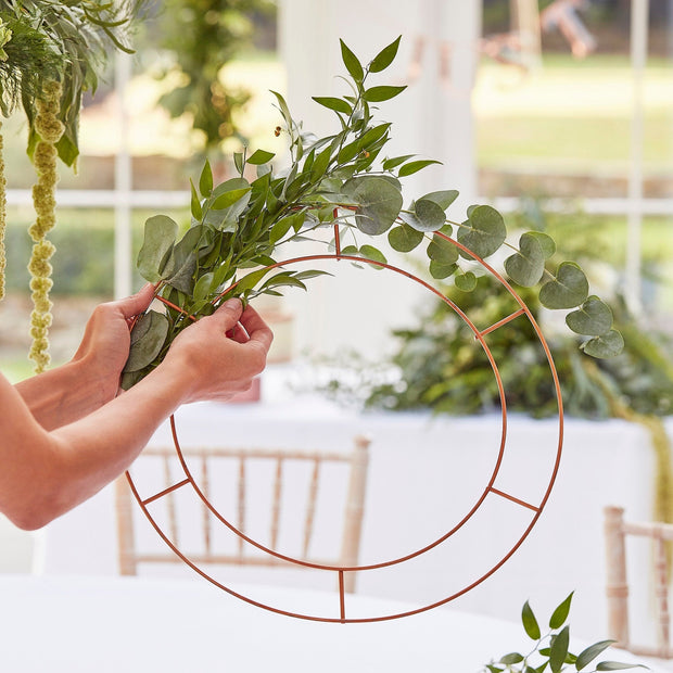 Hanging Chandelier Wedding Hoop - Wedding Decor