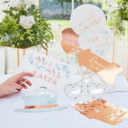 Large White Letter Peg Board With Copper Letters - White Peg Board - Wedding Peg Board
