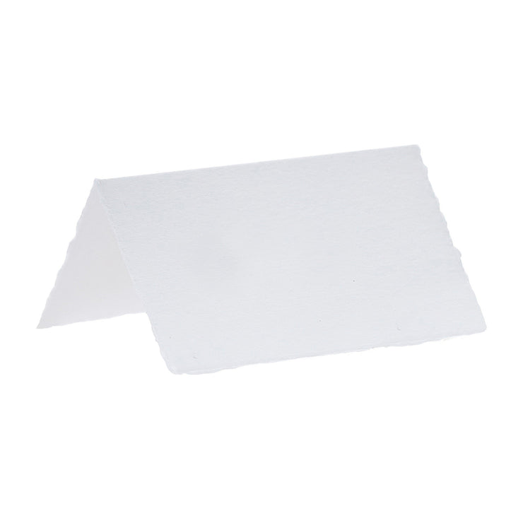 White Cotton Paper Wedding Place Cards - Pack of 10