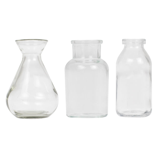 Assorted Glass Mini Vase Set  - Wedding Table Decorations