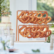 Copper Pretzel Display Stand - Wedding Treat Table