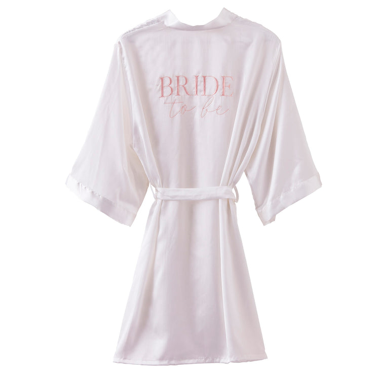 Bride To Be Embroidered Dressing Gown