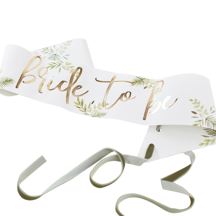 Six Gold Foiled Team Bride Hen Party Sashes  Team Bride