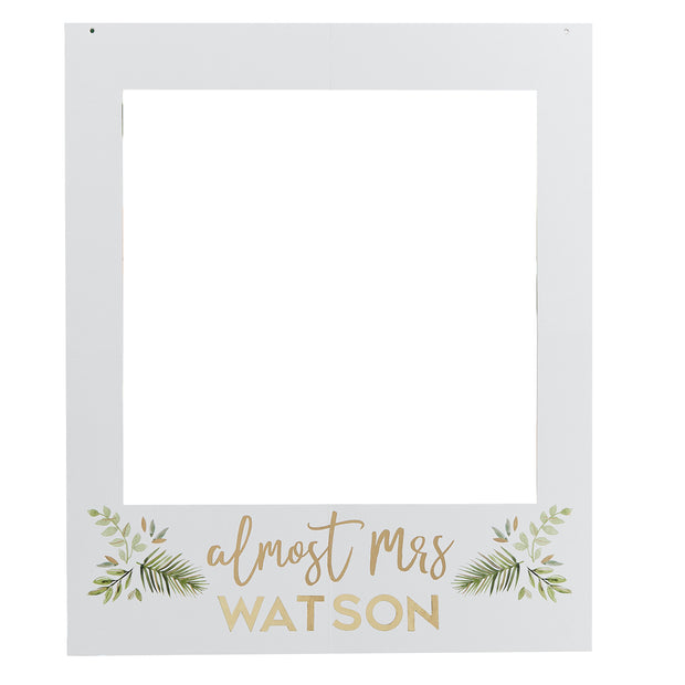 Personalised Botanical Hen Party Photo Frame - Hen Night Photo Booth