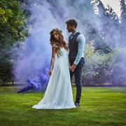 Purple Wedding Smoke Bomb for Photographs - Coloured Smoke Cannon for Weddings