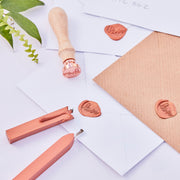 Wax Seal Wedding Invitations Stamp Kit -  Wedding Invitations - Copper Wedding Wax Seal