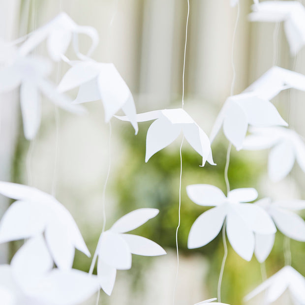 White Origami Flower Wedding Backdrop - Wedding Decor - Floral Wedding Backdrops