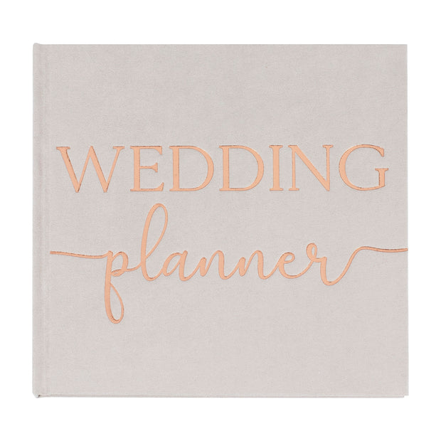 Grey Suede Luxury Wedding Planner - Wedding Planner - Wedding Planning Book - Bride to Be Gift