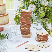 Wooden Stacking Heart Wedding Guest Book Alternative, Wedding Guestbook