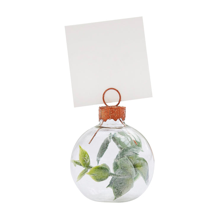 Eucalyptus Bauble Wedding Place Card Holders - Set of 6