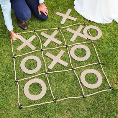 Wedding Garden Games Outdoor Noughts & Crosses - Summer Party Games