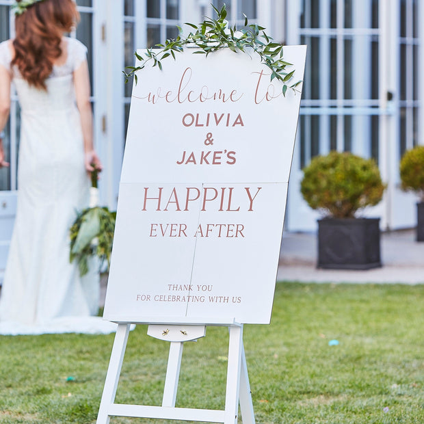 Personalised Wedding Welcome Sign - Wedding Entrance Sign