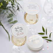 Glass Topper Wedding Coasters - Pack of 12