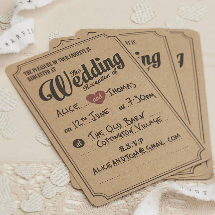 Kraft 'Evening Invitations' (Pack of 10)