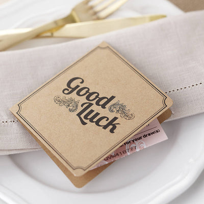 Brown Kraft 'Lottery' Card Favours (Pack of 10)