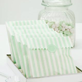 Vintage Style Mint Treat Bags (Pack of 10)
