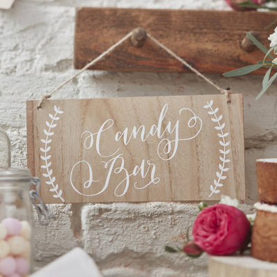 Candy Bar' Wooden Sign
