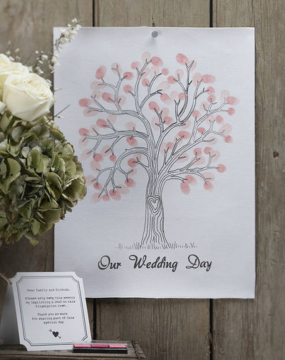 Finger Print Tree - Guest Book Alternative