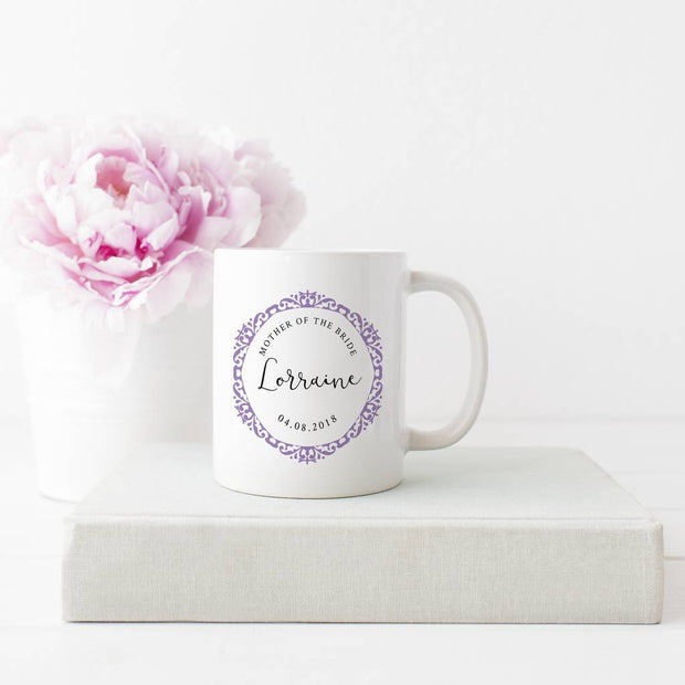 Personalised 'Ornate' Wedding Bridal Party Mug