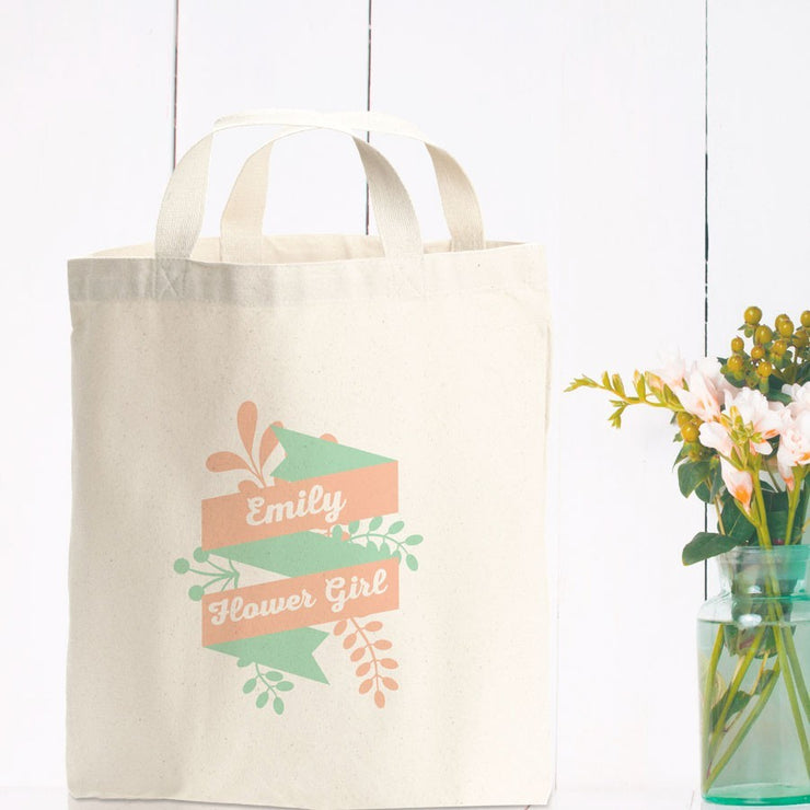 Personalised Ribbon Floral Gift Bag
