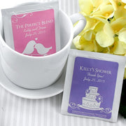 Personalised Silhouette Wedding Tea Bag Favours