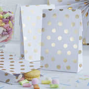 Gold Foil Polka Dot Favour Treat Bags