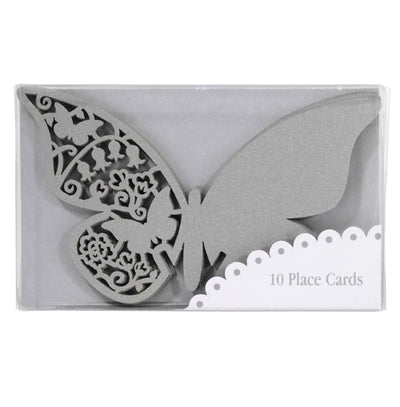Something in the Air - Silver Butterfly Place Cards (Set of 10)