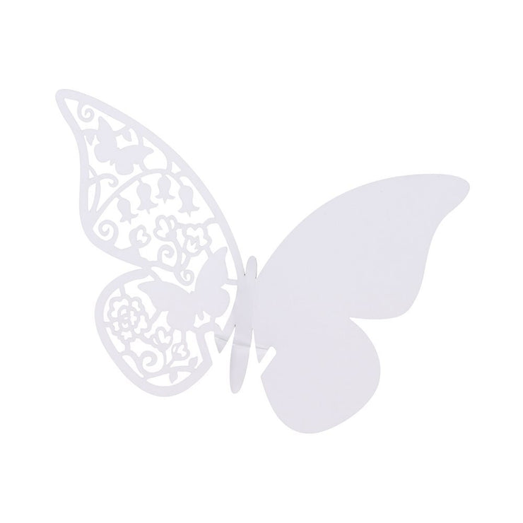 Something in the Air - White Butterfly Place Cards (Set of 10)