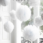 White Pom Pom Decoration Kit - Pack of 3