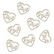 Wooden Heart Love Confetti