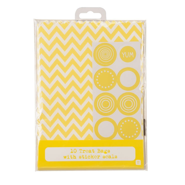 Vintage Style Yellow Treat Bags (Pack of 10)