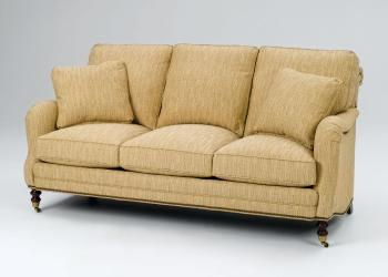 English Armed Sofa on Casters