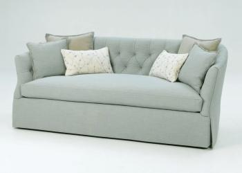 Rounded Corner, Tufted Back Sofa
