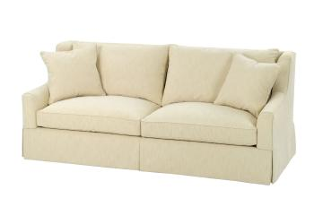 2-Cushion, Track Arm Sofa w/ Skirt