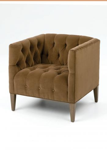 Short Tufted Tub Chair