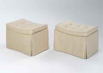 Curved Seat Ottoman