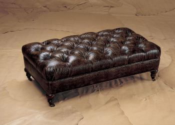 Plush Rectangular Tufted Ottoman