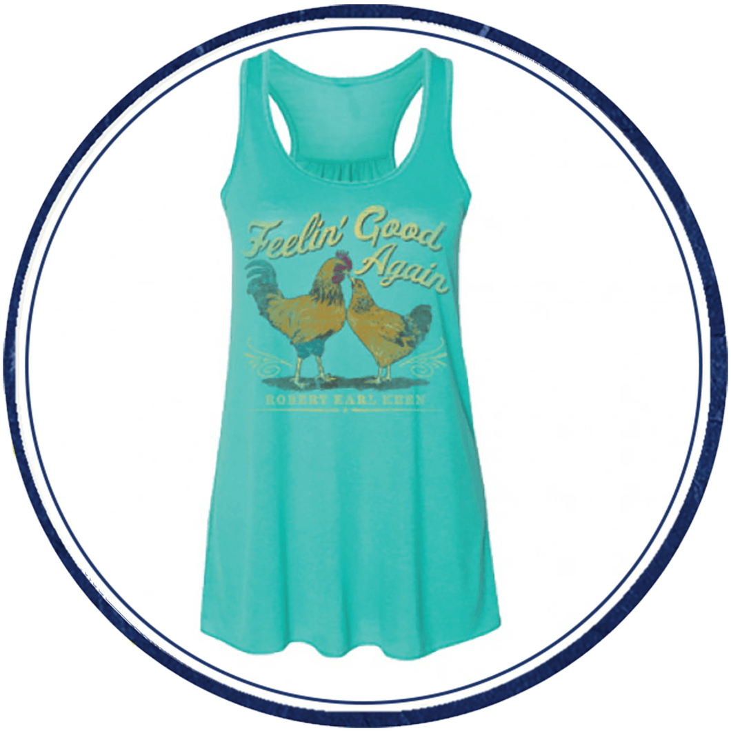 Women's Feelin' Good Again Blue Tank